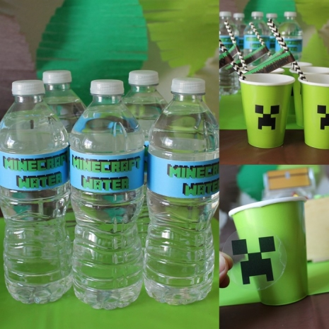Minecraft party labels and stickers