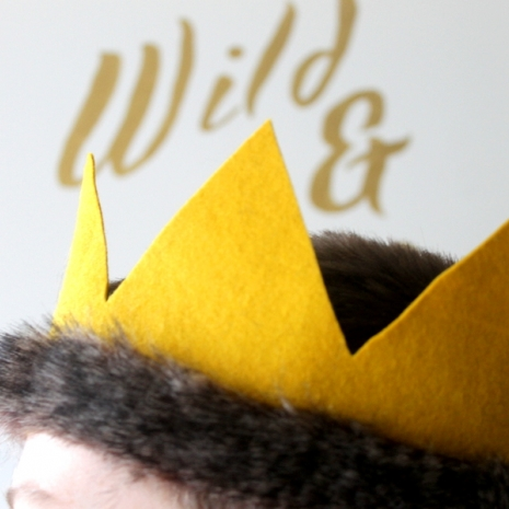 where the wild things are theme birthday party baby shower crown
