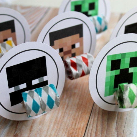 minecraft birthday party favor bag topper favor set blowouts