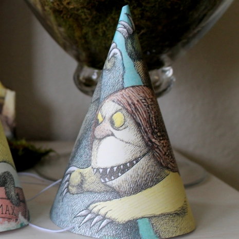Where the Wild Things Are party theme birthday party baby shower party hats