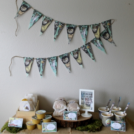 where the wild things are theme birthday party baby shower pdf banner