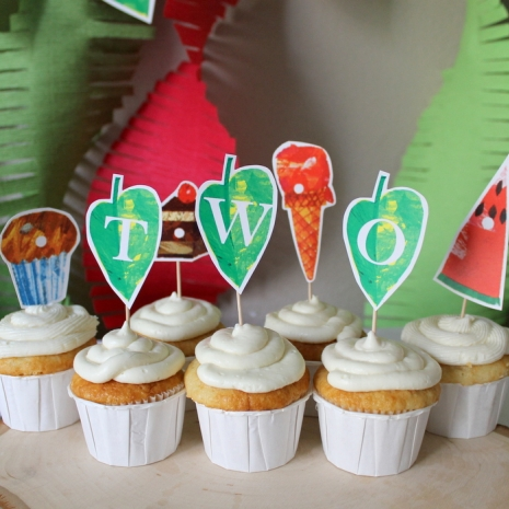 Hungry Caterpillar Custom Leaf Toppers Frolic And Frills