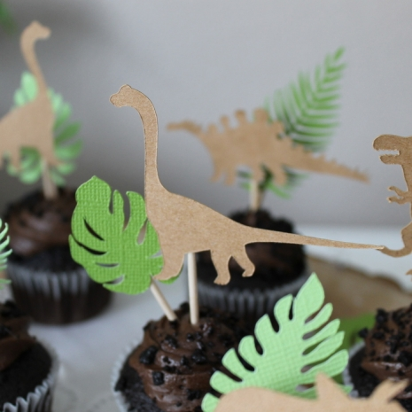 Dinosaur and Leaf Toppers