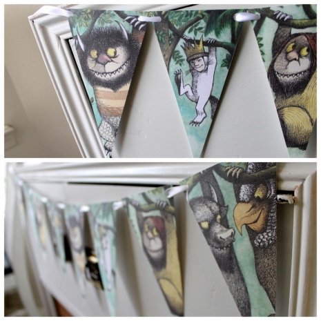 where the wild things are theme pennant banner