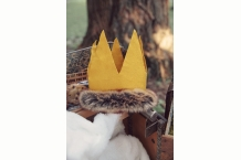 Custom Max Crown where the wild things are felt and faux fur custom sized crown